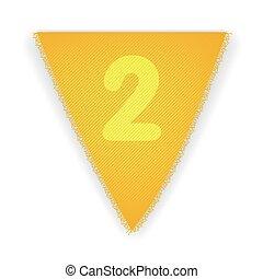 bruant, drapeau, 2, nombre
