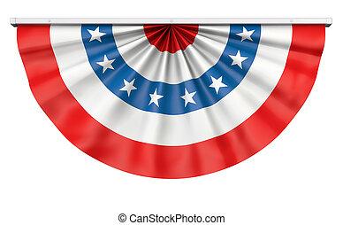 bruant, drapeau américain