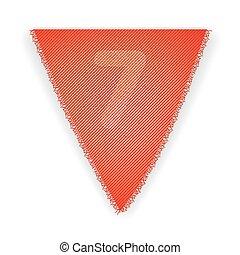 bruant, drapeau, numéro 7