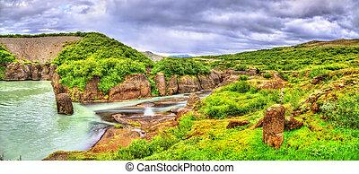 Bruarhlod Canyon of the Hvita river in Iceland
