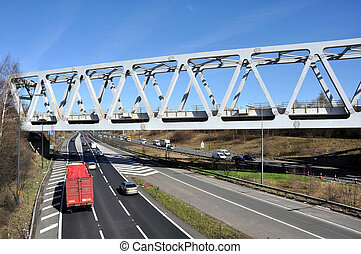 bruchband, art, eisenbahnbrücke