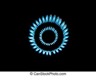 bruciatore a gas, fiamme