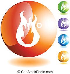 bruciatura, terzo, grado