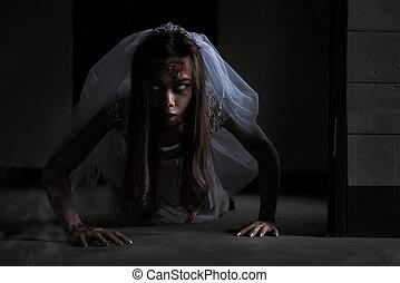 brud, spöke, berättelse
