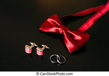 Stalldr?ng., bowtie, skor, brudgum, tillbeh?r, clothes