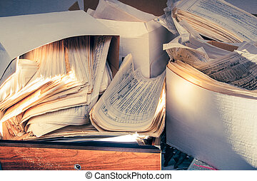 brudny, dokumenty, papier, brudny