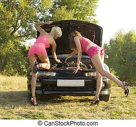 brudt, automobilen