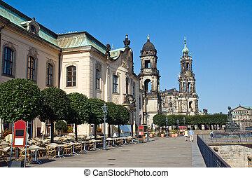 Bruehlsche Terasse in Dresden