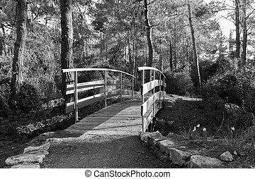 brug, door, stroom