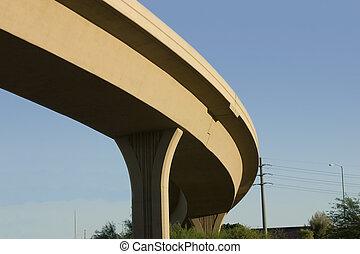 brug, op, snelweg