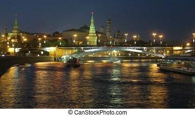 brug, over, rivier, door, kremlin