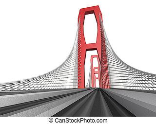 brug, witte achtergrond