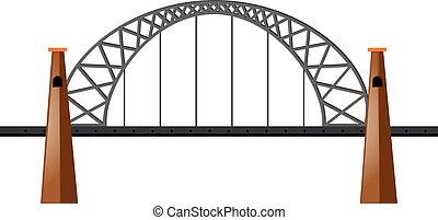 brug, witte , metaal, achtergrond