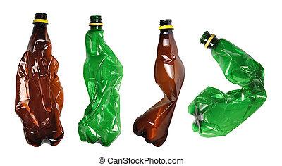 bruge, flasker, plastik