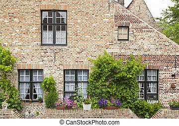 Bruges Begijnhof Houses