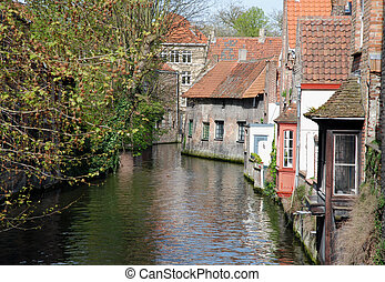 Bruges (Belgium) - Bruges, one of the oldest cities in...