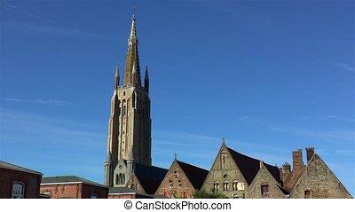 bruges, belgium., notre, église, dame