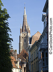 Bruges Church tower - Tower of the Onze Lieve Vrouw Church...