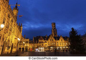 Bruges City Hall on Burg Square