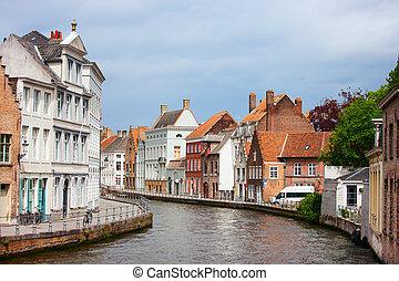 Bruges city in Belgium World Heritage Site of UNESCO