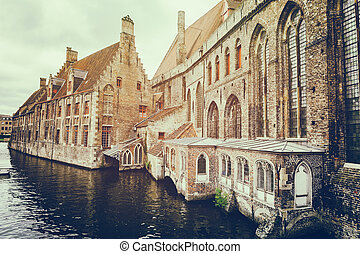 Bruges Hospital Museum, Belgium. Toned image