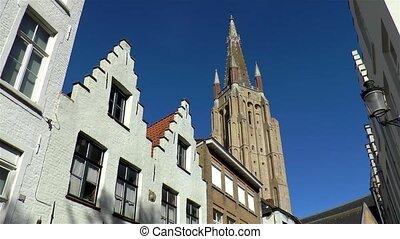 bruges, notre, belgium., église, dame