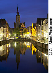 Bruges Poortersloge At Night