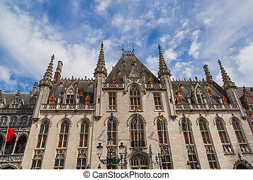 Brugge cityhall - Belgium - architecture background