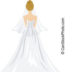 bruid, achtermening