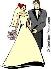 bruid, bruidegom