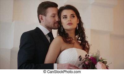bruid, bruidegom, photosession, trouwfeest