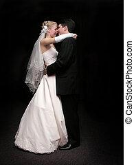 bruid en bruidegom, dancing