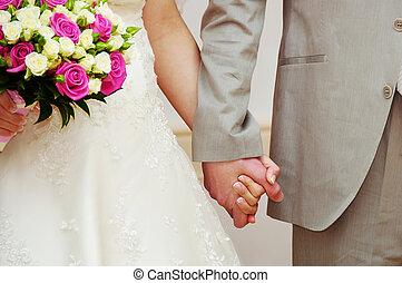 bruid en bruidegom, huwelijksdag