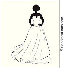 bruid, jurkje, trouwfeest
