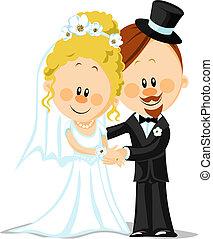 bruidegom, bruid