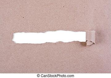 bruin pakket, papier, gescheurd
