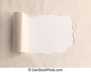 bruin pakket, papier