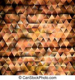 bruine , abstract, glanzend, geometrisch, achtergrond