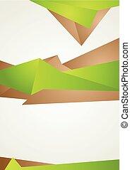 bruine , abstract, moderne, gedaantes, flyer, groene, ontwerp