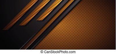 bruine , abstract, zwarte achtergrond, technologie, geometrisch