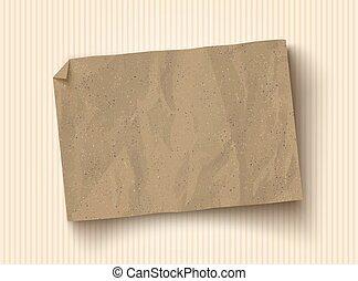 bruine , ambacht, papier, texture.