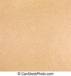 bruine , ambacht, textuur, papier, achtergrond, gestreepte