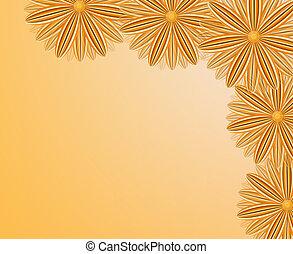 bruine , bloemen, hoek, model, bovenleer