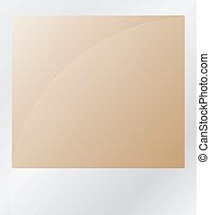 bruine , foto, vrijstaand, op wit
