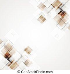 bruine , geometrisch, pleinen, technologie, achtergrond