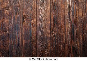 bruine , houten raad, achtergrond, textuur