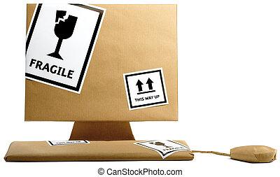 bruine , kantoorbeweging, vrijstaand, verpakte, papier,...
