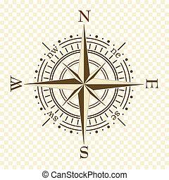 bruine , kompas