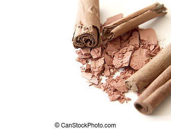 bruine , makeup, natuurlijke