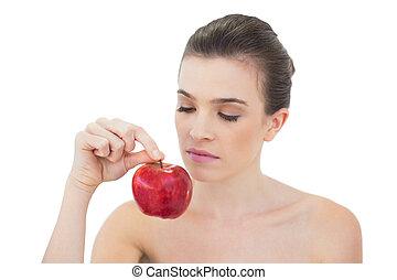 bruine , natuurlijke , appel, haired, het charmeren, ...